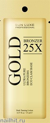 11 Sun Luxe Крем для загара в солярии Gold Bronzer 25x Мятный шоколад 15мл - фото 186323