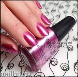 168 VINYLUX CND Sultry Sunset (Темно-розовый, плотный, с перламутром)