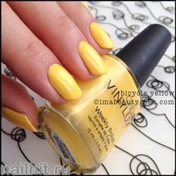 104 VINYLUX CND Bicycle Yellow (Ярко-желтый, плотный, с микроблестками)