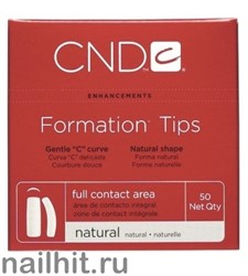 Типсы для ногтей, CND Formation Natural Nail Tips, 50 шт, (Размер № 8) Натуральные
