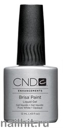 CND Brisa Paint Pure White Opaque 12мл (Белая гелевая краска)
