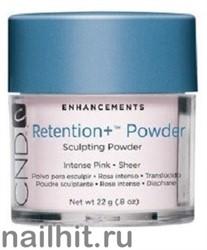 Retention+ Powders Intense Pink CND 22гр (Акриловая пудра розовая, прозрачная)