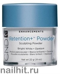 Retention+ Powders Bright White CND 22гр (Акриловая пудра ярко-белая, плотная)
