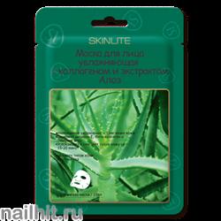 209 SkinLite Маска для лица Увлажняющая с коллагеном и экстрактом Алоэ 1 шт