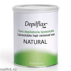 900663 Воск в банке Depilflax - Натуральный (Natural), 800мл