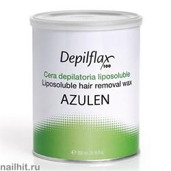 900670 Воск в банке Depilflax - Синий (Azulen), 800мл