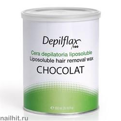 Воск в банке Depilflax - Шоколадный (Chocolat), 800мл
