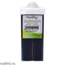 Depilflax Воск в картридже Азуленовый с узким роликом 110гр (Кристаллический воск)