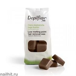 Горячий воск - Шоколадный Depilflax 1000гр