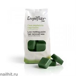 Горячий воск - Зеленый Depilflax 1000гр
