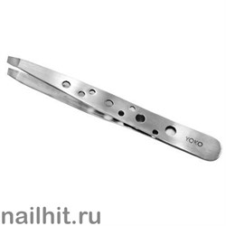 3137 Yoko 009SP Пинцет прямой скошенный 95мм (матовый)