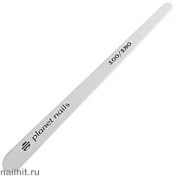 20251 Пилка для ногтей Planet Nails на деревянной основе зебра зауженная 100/180