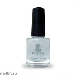 601 JESSICA   Hologram Top Coat Silver  Закрепитель лака Голографический СЕРЕБРО 14,8мл