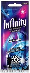 6564 SolBianca Infinity 15мл 8818 Крем для загара экстракат грецкого ореха и карамель (6*Bronzer)