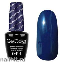 T32 Road House Blues Gelcolor OPI 15мл (Темный серо-синий, эмалевый, плотный)