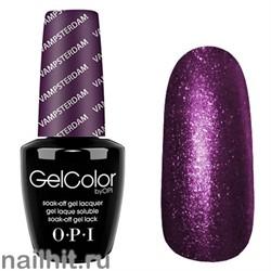 H63 Vampsterdam Gelcolor OPI 15мл (Темный бордово-лиловый, плотный, с микроперламутром)