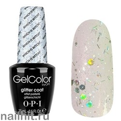 T60 Which is Witch? Gelcolor OPI 15мл (Прозрачный с серебристыми микроблестками)