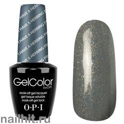 H58 I Have A Herring Problem Gelcolor OPI 15мл (Серо-голубой с голографическими блестками, плотный)
