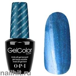 G24 Unfor-greta-bly Blue Gelcolor OPI 15мл (Сине-голубой с микроблеском и перламутром, плотный)