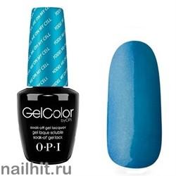 Z20 Yodel Me On My Cell Gelcolor OPI 15мл (Темный сине-бирюзовый с микроблестками, плотный)