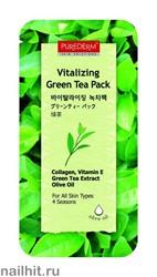 581947 Purederm Маска освежающая Зеленый чай 10мл