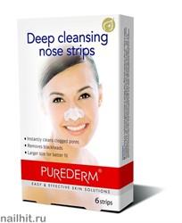581015 Purederm Полоски для глубокого очищения пор носа 6шт
