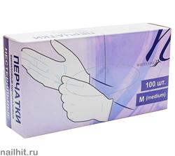 4252 White Line Виниловые перчатки в коробке (Размер S) 100 шт/уп