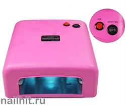 УФ-лампа 36 Вт (С таймером на 120 сек и бесконечность) Цвет фуксии