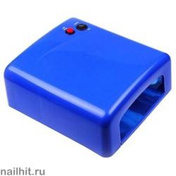 УФ-лампа 36 Вт (С таймером на 120 сек и бесконечность) Синяя