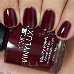 197 VINYLUX CND Rouge Rite (Глубокий красный с бордовым подтоном, без блесток и перламутра, плотный) Осень 2015