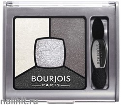 Bourjois 039001 Тени для век Smoky Stories, тон 01 grey and night