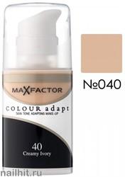 MF Тональная основа Colour Adapt 34мл, тон №40 (Cream Ivory)