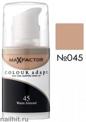 MF Тональная основа Colour Adapt 34мл, тон №45 (Warm Almond)