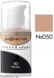 MF Тональная основа Colour Adapt 34мл, тон №50 (Porcelain)