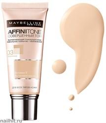 Maybelline Тональный крем Affinitone Совершенный Тон с HD пигментами, тон 03 Светло-бежевый