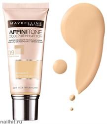 Maybelline Тональный крем Affinitone Совершенный Тон с HD пигментами, тон 09 Розово-опаловый