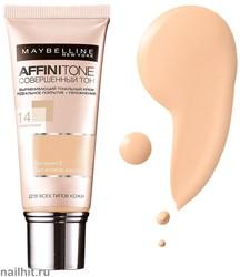 Maybelline Тональный крем Affinitone Совершенный Тон с HD пигментами, тон 14 Кремово-бежевый