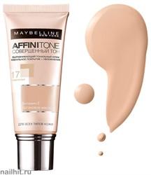 Maybelline Тональный крем Affinitone Совершенный Тон с HD пигментами, тон 17 Розово-бежевый