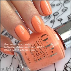 L42 OPI Лак для ногтей Infinite Shine The Sun Never Sets 15мл