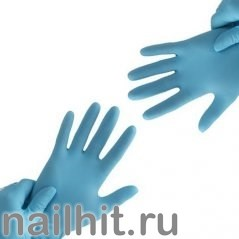 Перчатки MANUAL FN-309 L FLEX NITRILE нитриловые неопудренные Синий (Размер L)
