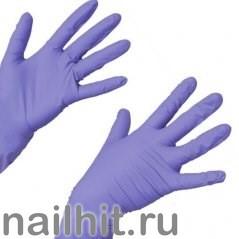 Перчатки Нитриловые Неопудренные Сиреневые 100шт (Размер S)