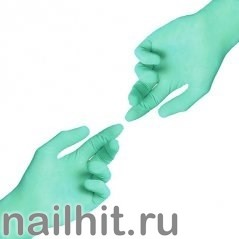 Перчатки Нитриловые Неопудренные Зеленые 100шт (Размер L)