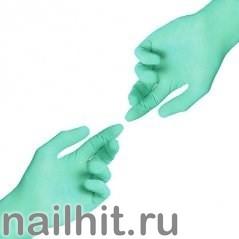 Перчатки Нитриловые Неопудренные Зеленые 100шт (Размер M)