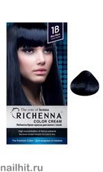 RICHENNA № 1B Крем-краска для волос с хной Иссиня-черный