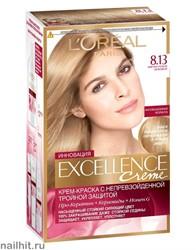 Краска для волос L'Oreal Paris Excellence, тон 8.13 Светло-русый бежевый