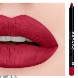 № 21 Provoc Sealed with a Kiss Гелевый карандаш для губ (матовый, классический красный)