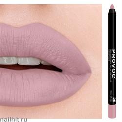 № 25 Provoc Read My Lips Гелевый карандаш для губ (матовый, телесно- розовый)