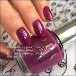L52 OPI Лак для ногтей Infinite Shine Endles Purple Pursuit 15мл Весна 2016