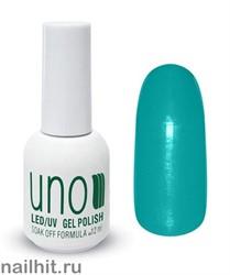 L1 Гель-лак UNO Зеленый Limited Edition 12ml (Плотный, светлый сине-зеленый, без перламутра)