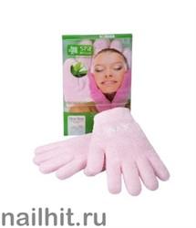 SpaBelle Увлажняющие SPA перчатки МИКРОФИБРА с гелевой пропиткой (розовые, зеленые)